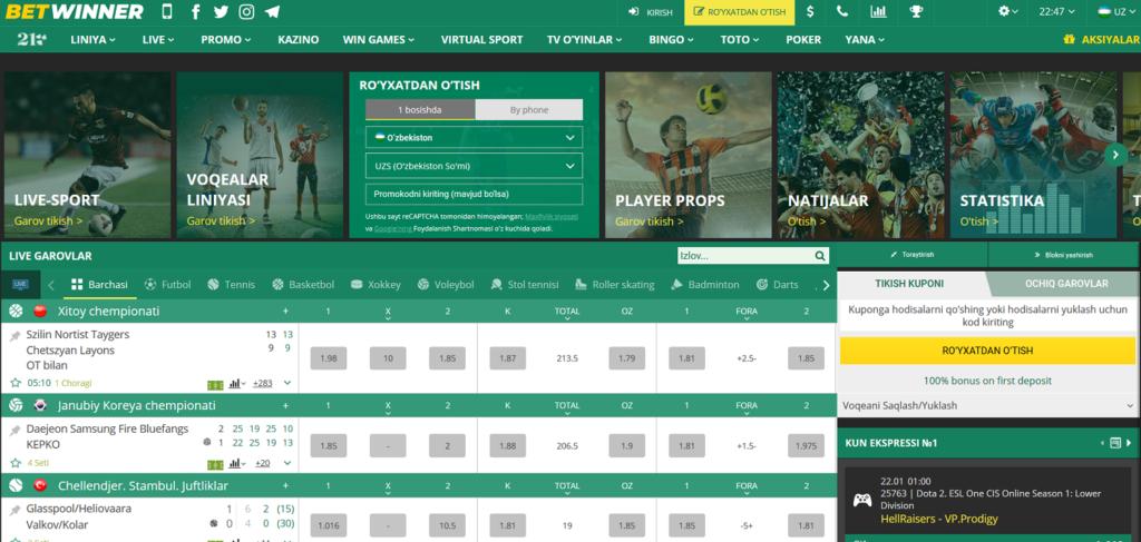 Betwinner Bukmeykeri Screenshot